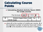 calculating course points
