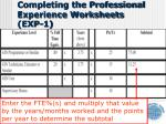 completing the professional experience worksheets exp 12