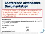 conference attendance documentation