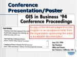 conference presentation poster