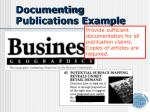 documenting publications example