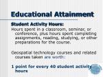 educational attainment1