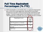 full time equivalent percentages fte1