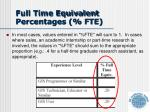 full time equivalent percentages fte2