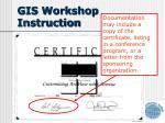 gis workshop instruction
