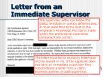 letter from an immediate supervisor