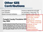 other gis contributions