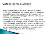 sistem operasi mobile