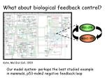 what about biological feedback control