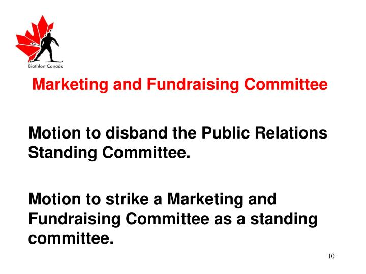 Marketing and Fundraising Committee