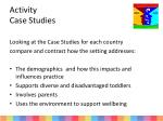 activity case studies