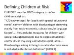 defining children at risk