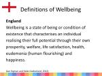 definitions of wellbeing