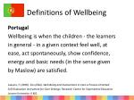 definitions of wellbeing1