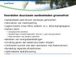 voordelen duurzaam aanbesteden groenafval