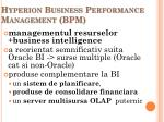 hyperion business performance management bpm