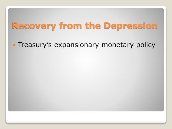 Treasury's expansionary monetary policy