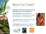 wat is fair trade