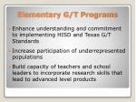 elementary g t programs1