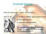 evolutie theorie