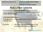 natuurlijke selectie
