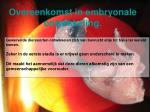 overeenkomst in embryonale ontwikkeling