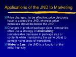 applications of the jnd to marketing