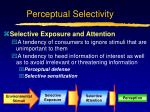perceptual selectivity