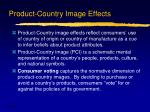 product country image effects