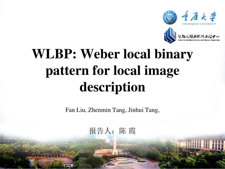 PPT - WLBP: Weber local binary pattern for local image