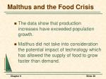 malthus and the food crisis1
