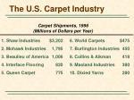 the u s carpet industry