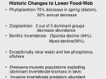 historic changes to lower food web