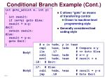 conditional branch example cont
