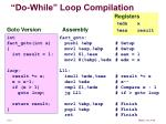 do while loop compilation