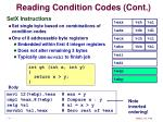 reading condition codes cont