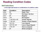 reading condition codes