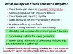 initial strategy for florida emissions mitigation