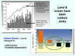 land ocean have been carbon sinks