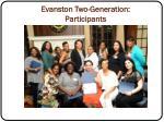 evanston two generation participants