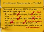 conditional statements truth