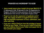 prayer as worship to god6