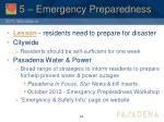 5 emergency preparedness