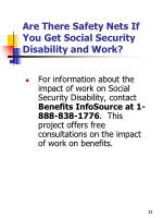 are there safety nets if you get social security disability and work1