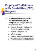 employed individuals with disabilities eid program
