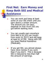 first net earn money and keep both ssi and medical assistance