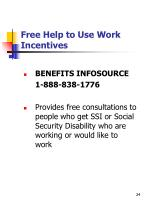 free help to use work incentives