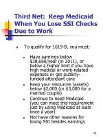 third net keep medicaid when you lose ssi checks due to work1