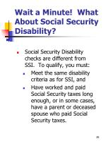 wait a minute what about social security disability