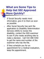what are some tips to help get ssi approved more quickly1